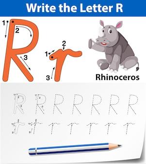 Arkusze alfabetyczne z alfabetem litera r