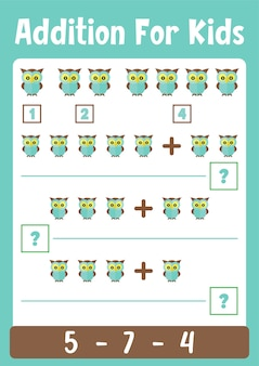 Arkusze dodawania - gra logiczna z matematyką dla dzieci