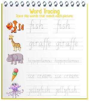 Arkusze śledzenia alfabetu angielskiego