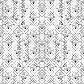 Art deco bezszwowej deseniowej tekstury dekoracyjny tło