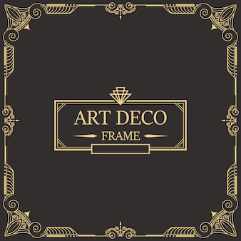 Art deco border and frame 26