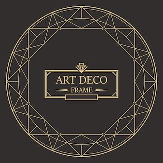 Art deco szablon obramowania i ramki