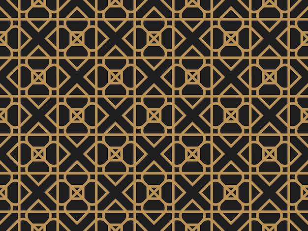 Art deco vintage geometryczny dekoracyjny wzór bez szwu