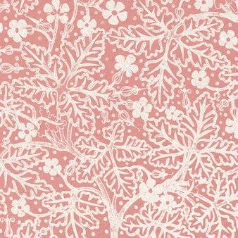 Art nouveau geranium kwiat w tle