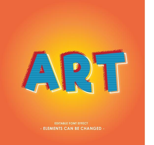 Art of break font effect