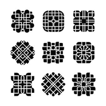 Artistic shape design ornament