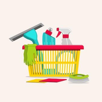 Artykuły gospodarstwa domowego do czyszczenia.