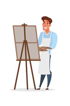 Artysta malarstwo ilustracja obraz na białym tle