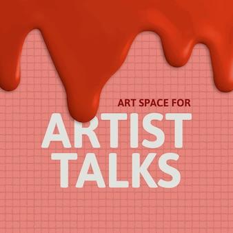 Artysta mówi o szablonie kreatywna farba ociekająca mediami społecznościowymi ad