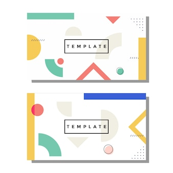 Artystyczna wizytówka memphis
