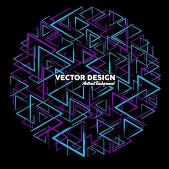 Artystyczne abstrakcyjne tło w jasnoniebieskich i fioletowych kolorach wykonane z losowych trójkątnych kształtów