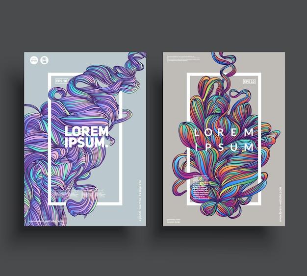 Artystyczne szablony plakatów.