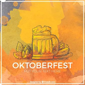 Artystyczny kufel piwa na oktoberfest