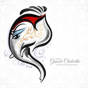 Artystyczny szczęśliwy ganeśćaturthi kreatywny tło karty