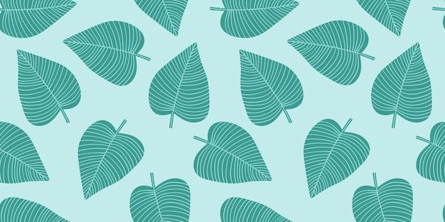 Artystyczny wzór z streszczenie liści. nowoczesny design na papier, okładkę, tkaniny, wystrój wnętrz i innych użytkowników.