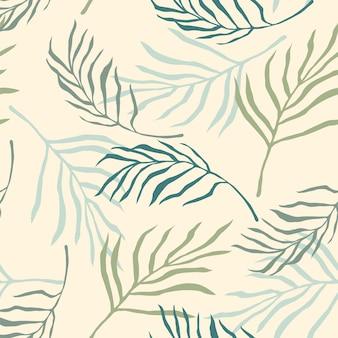 Artystyczny wzór z streszczenie liści.