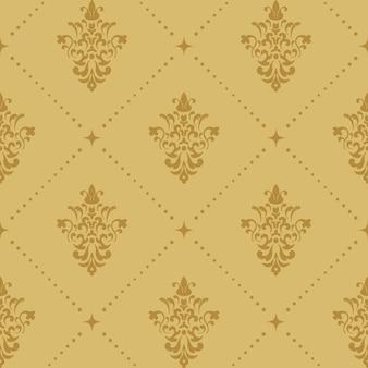 Arystokratyczny barokowy wzór tapety. wiktoriańskie retro bezszwowe tło.