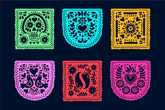 Asortyment chorągiewki meksykańskiej