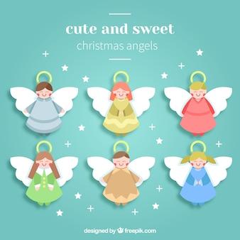 Asortyment cute christmas aniołów
