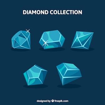 Asortyment diamentów z różnych wzorów