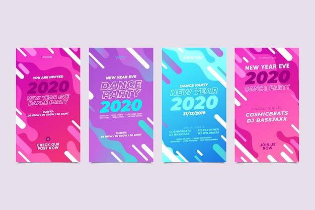 Asortyment opowiadań na instagramie w nowym roku 2020