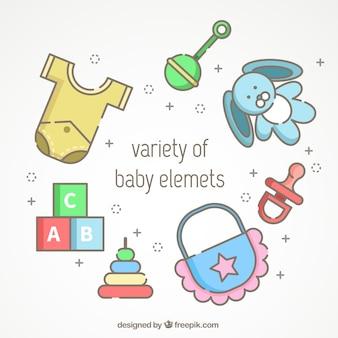 Asortyment różnych pozycji dziecka
