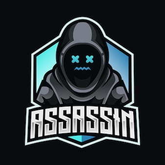 Assassin hacker mascot esport logo design