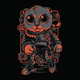Astro style cat rasy ilustracja