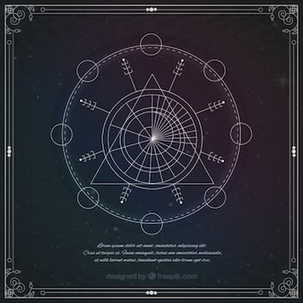 Astrologicznych symboli geometrycznych
