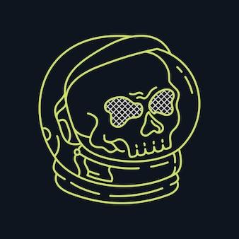 Astronauta czaszka przestrzeni