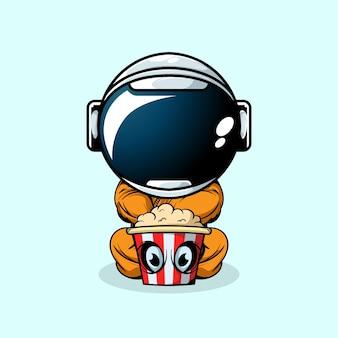 Astronauta i potwór popcorn