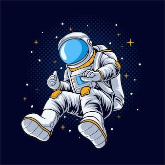 Astronauta ilustracja