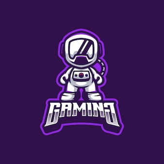 Astronauta logo maskotka
