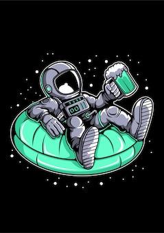 Astronauta na basenie