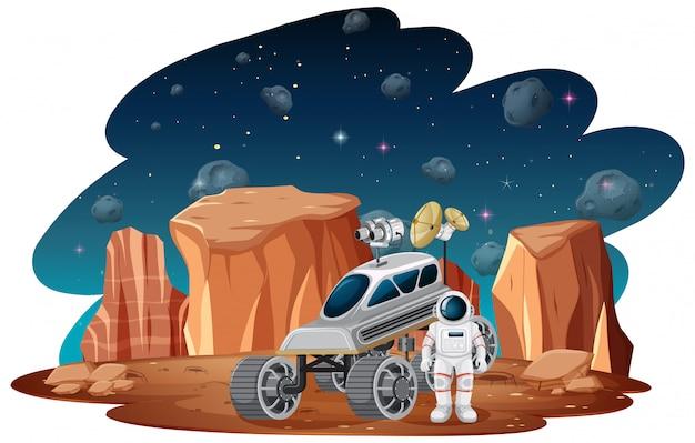 Astronauta na scenie kosmicznej