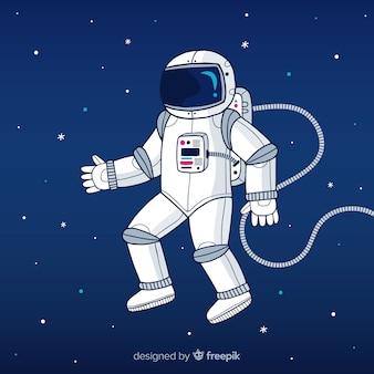 Astronauta na tle księżyca