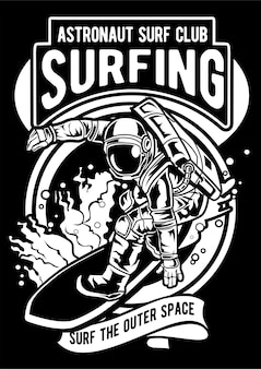 Astronauta surfing
