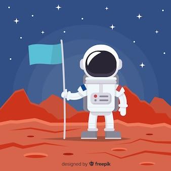 Astronauta tło w przestrzeni