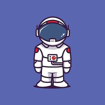 Astronauta w prostej pozie
