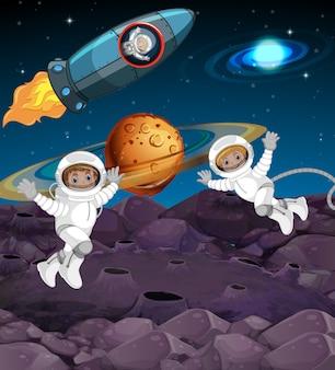 Astronauta w przestrzeni
