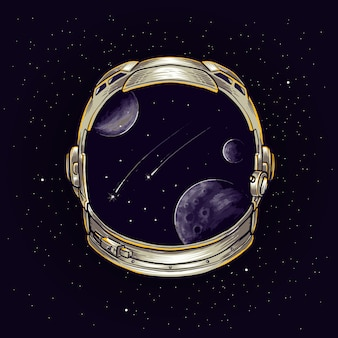 Astronnauta głowa maskotka ilustracja