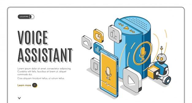 Asystent głosowy banner inteligentnych technologii