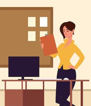 Asystentka pracownica biura