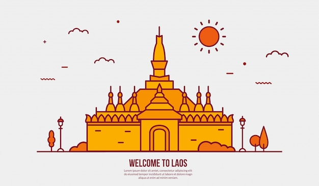 Atrakcja turystyczna laosu
