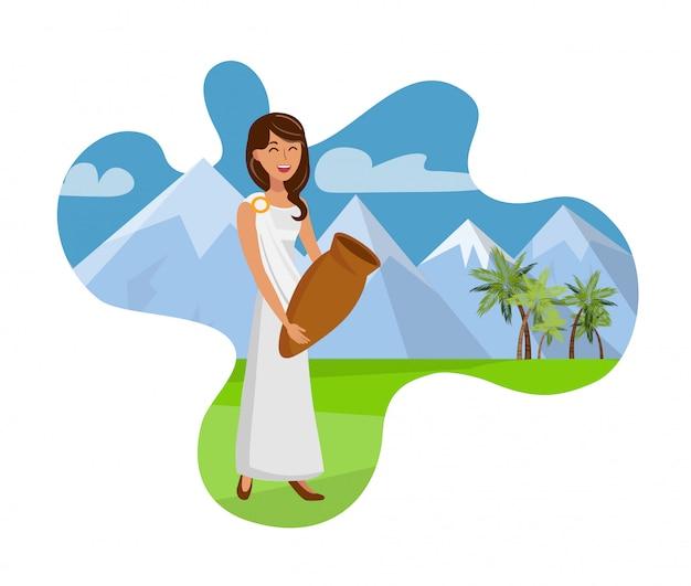 Atrakcyjna dama z miotacza wektoru ilustracją