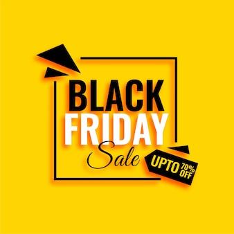 Atrakcyjny czarny piątek sprzedaż żółte tło