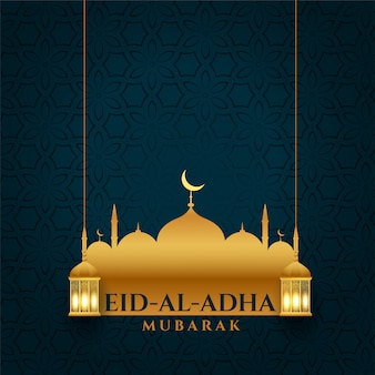Atrakcyjny eid al adha bakrid festiwalu tło