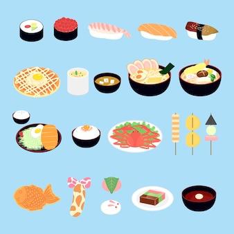 Atrakcyjny zestaw japońskich przysmaków i przekąsek