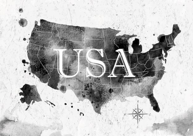 Atrament mapa stanów zjednoczonych