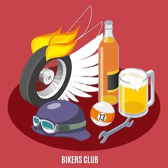 Atrybuty składu motocyklistów